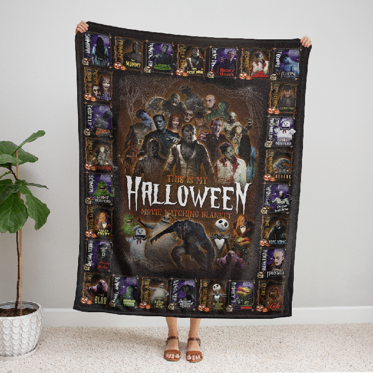 Horror Movies Character This Is My Halloween Movie Watching Blanket