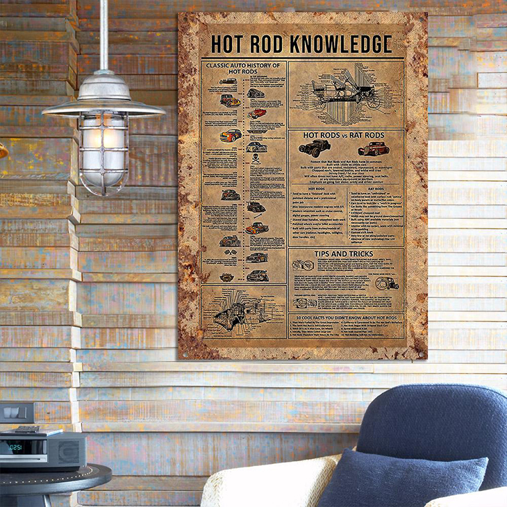 Hot Rod Knowledge Metal Sign