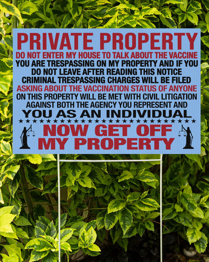 Private Property Do Not Enter My House To Talk About The Vaccine Yard Sign And Doormat11