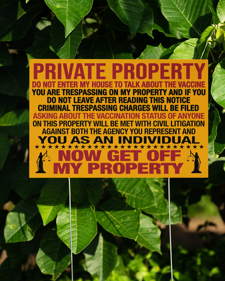 Private Property Do Not Enter My House To Talk About The Vaccine Yard Sign And Doormat6
