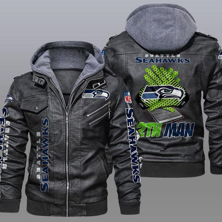 Seattle Seahawks 12th Man Leather Jacket
