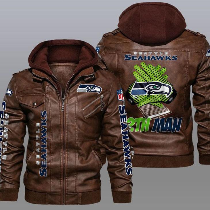 Seattle Seahawks 12th Man Leather Jacket1
