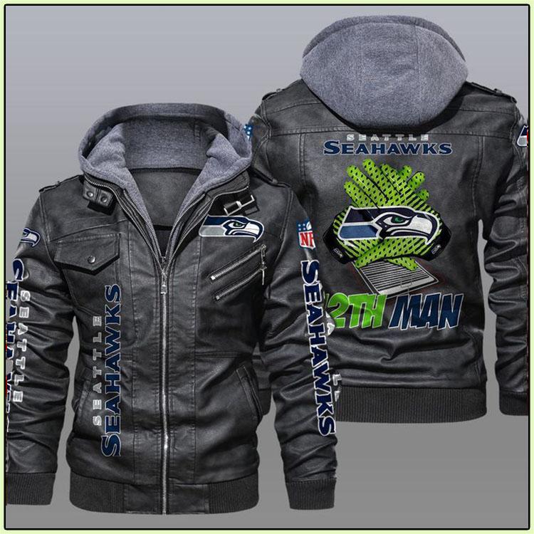 Seattle Seahawks 12th Man Leather Jacket2