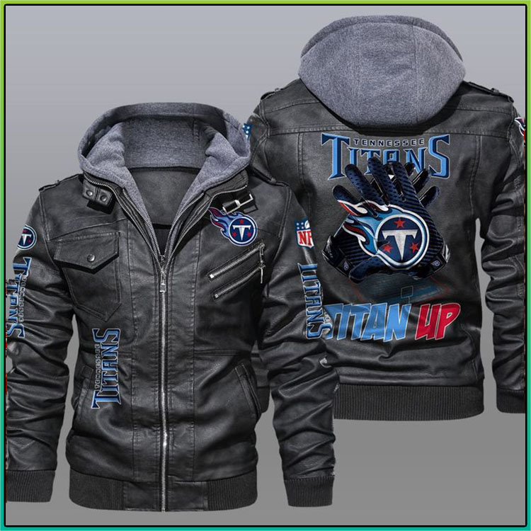 Tennessee Titans Titan Up Leather Jacket2