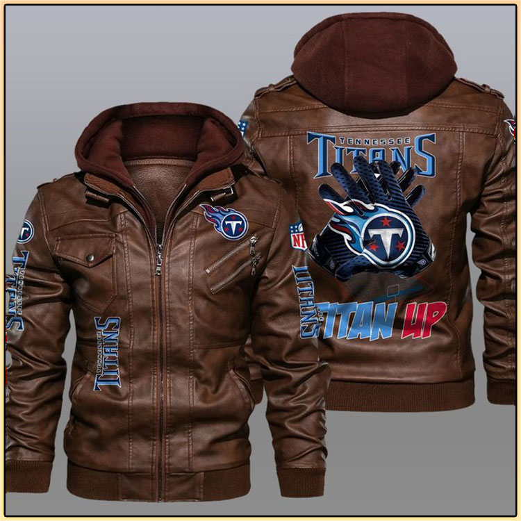 Tennessee Titans Titan Up Leather Jacket3