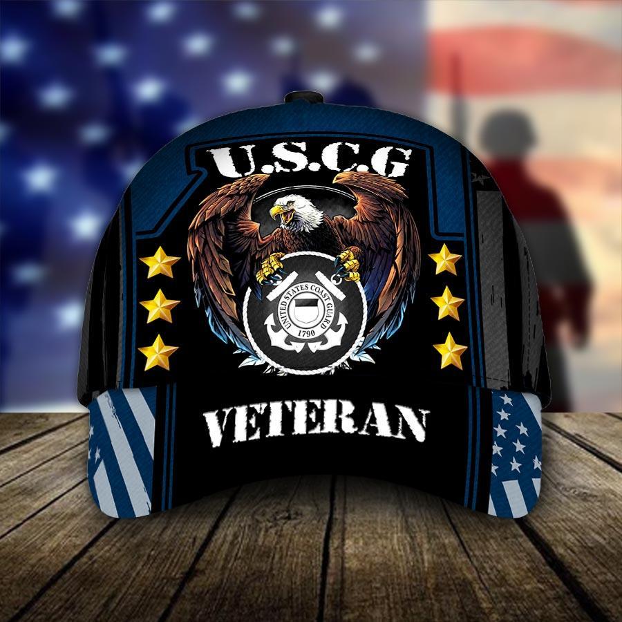 U.S.C.G United States Coast Guard Veteran Cap