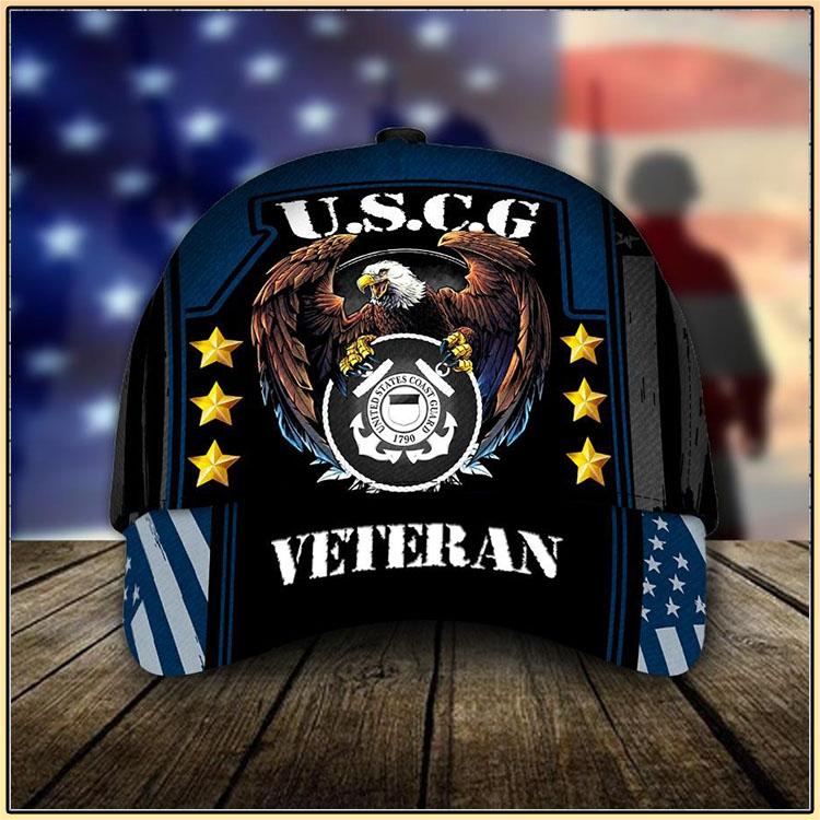 U.S.C.G United States Coast Guard 1790 Veteran Cap3