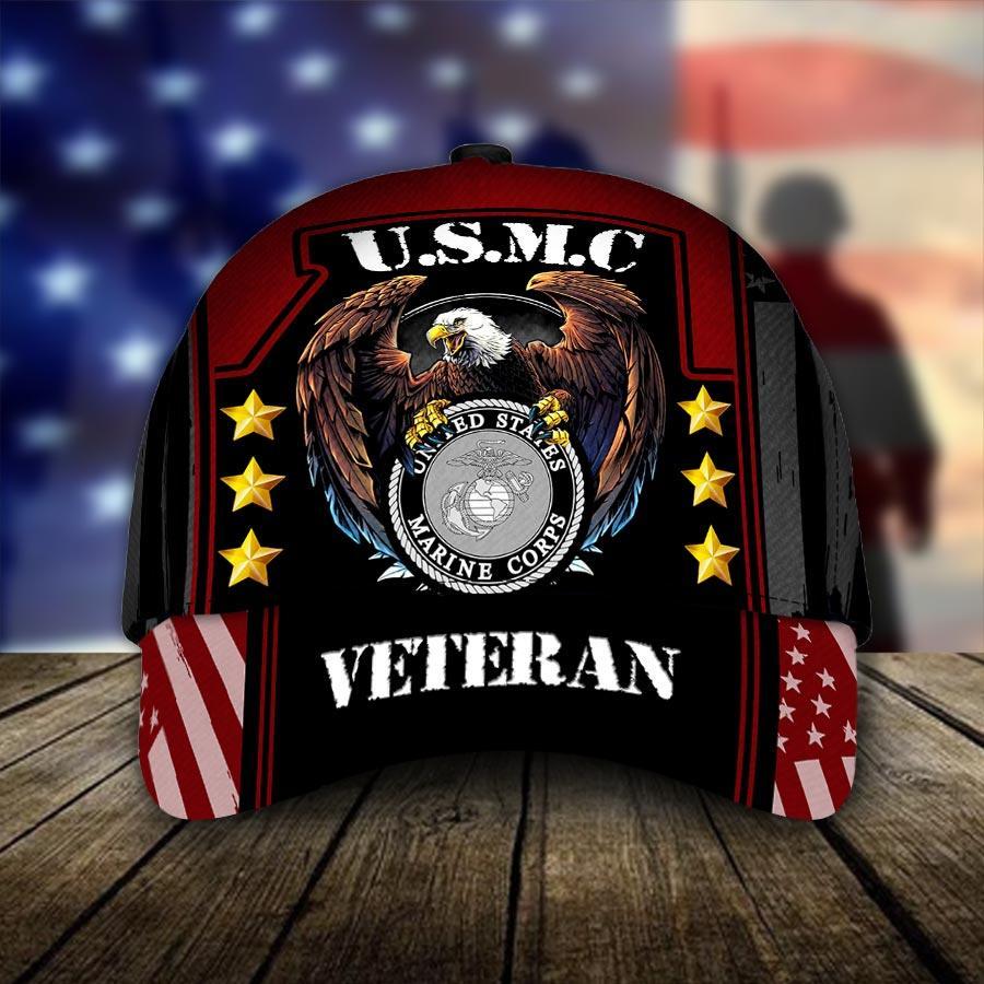 U.S.M.C United States Marine Corps Veteran Cap