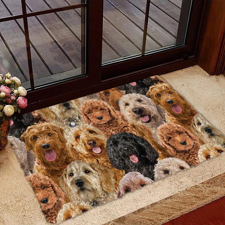 A Bunch Of Goldendoodles Doormat 1