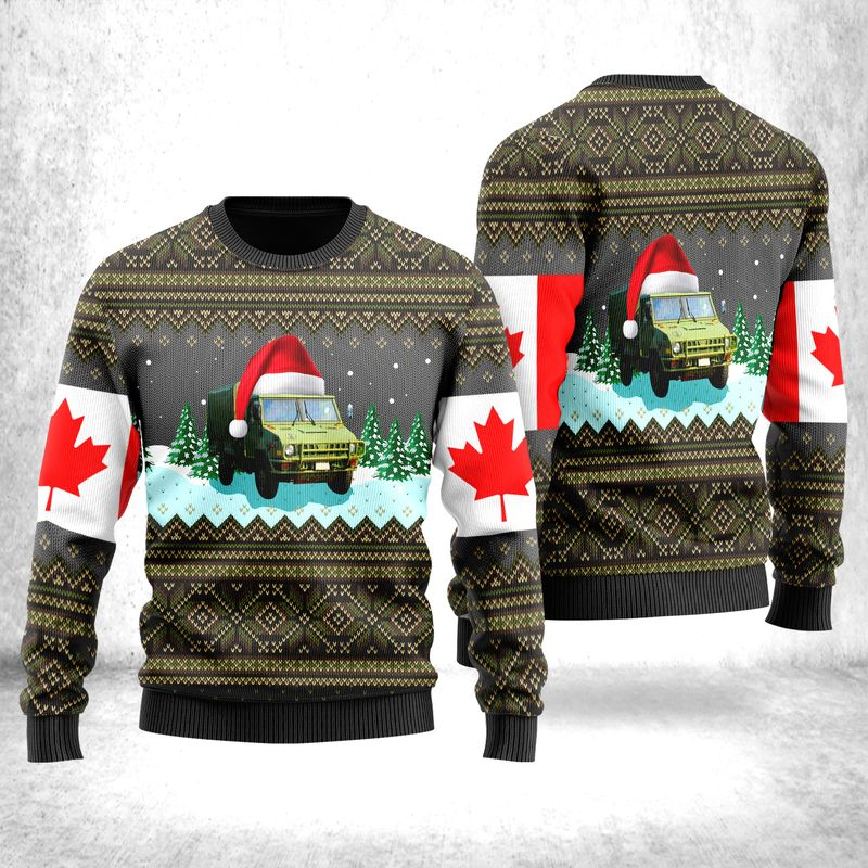 Canadian Army LSVW Military Truck Ugly Sweater