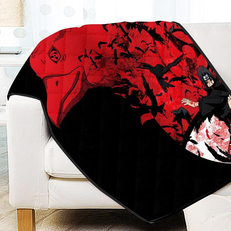 Itachi Summoning Crow Quilt Blanket