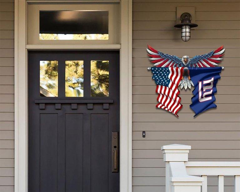 New York Giants Eagle American flag Metal Sign 2 1