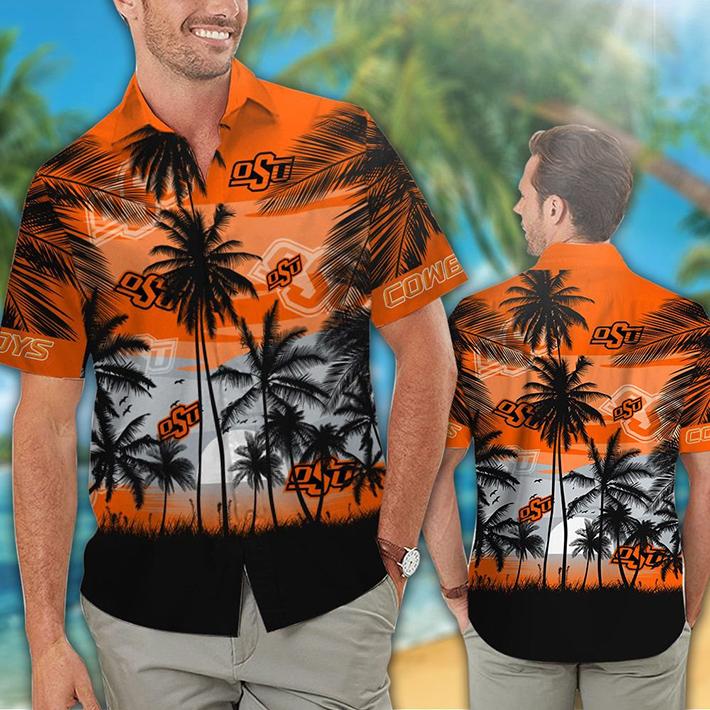 Oklahoma State Cowboys Tropical Hawaiian Shirt Short 1