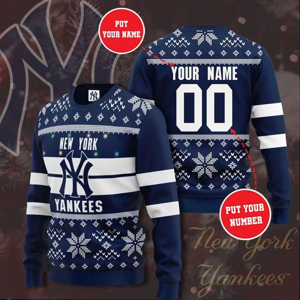Personalized New York Yankees custom Christmas Sweater 1 1