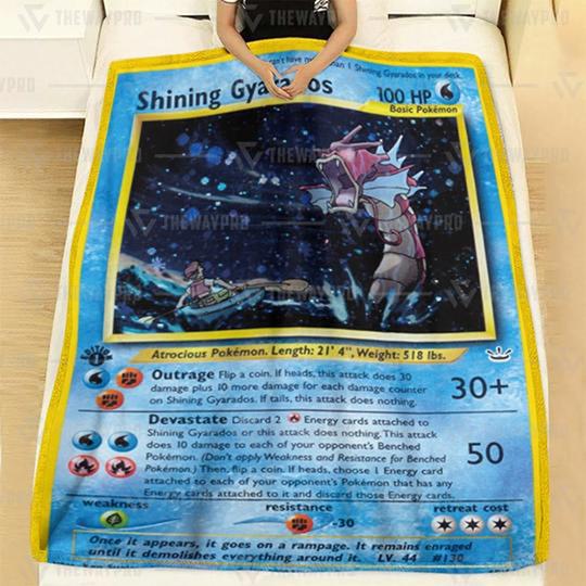 Pokemon Shining Gyarados Neo Revelation Blanket1