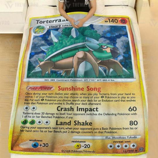Pokemon Torterra LV 47 Blanket1