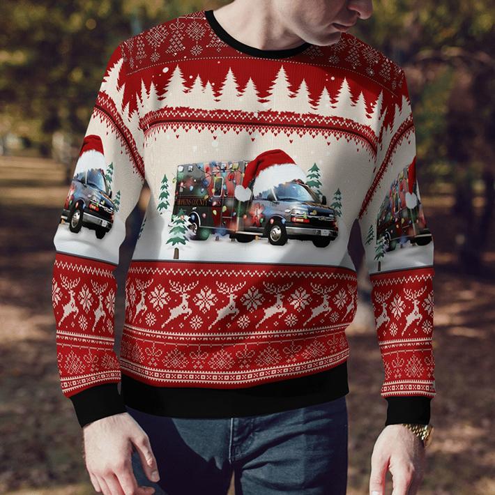 Texas Hopkins County EMS Ugly Christmas Sweater3 1