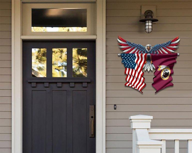 Washington Redskins Eagle American flag Metal Sign 2 1